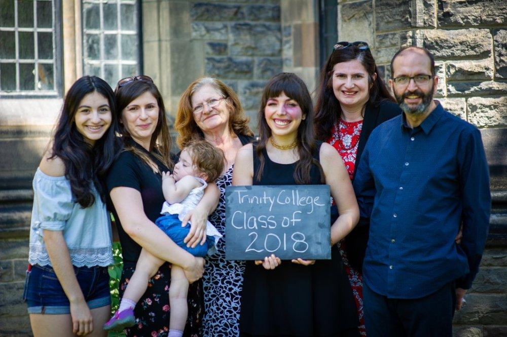 Trinity College Graduation UofT Alumni Family Portrait