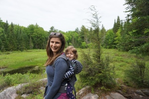 Algonquin Park Mizzy Lake Trail Mother Toddler