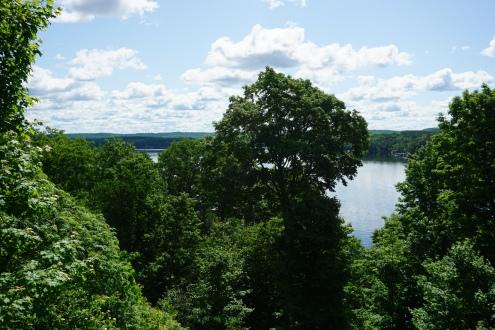 Deerhurst Resort Balcony View Trees and Lake
