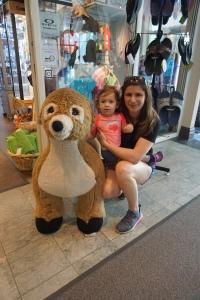 Deerhurst Resort giant stuffed deer