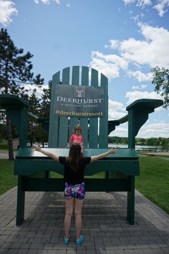 Deerhurst resort giant beach chair