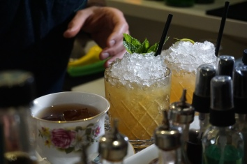 bartender making cocktails