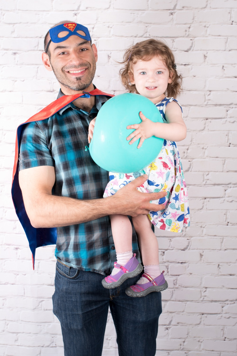 Father Daughter Father's Day Superhero Photoshoot Ideas
