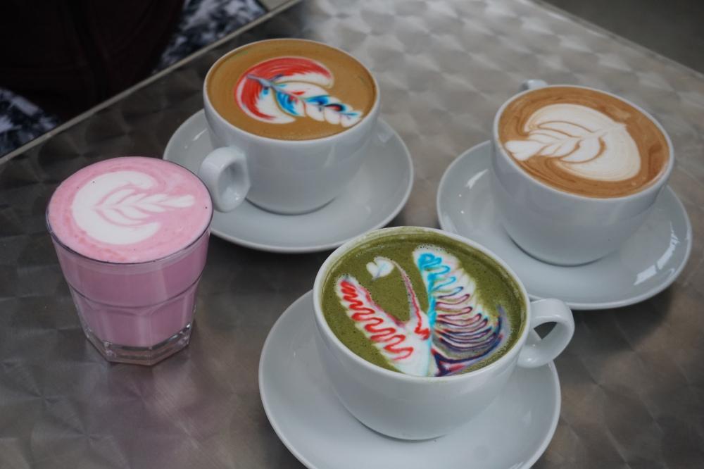 Versus Coffee Toronto Rainbow Latte Art
