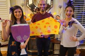 halloween diy group costume wine and cheese party