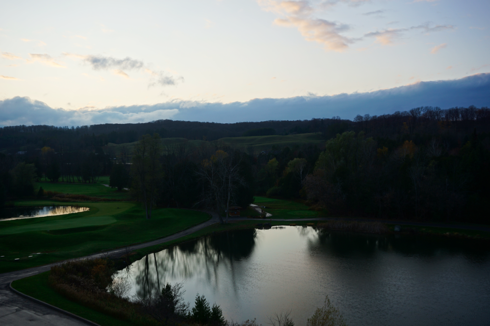Hockley valley, balcony view, fall.
